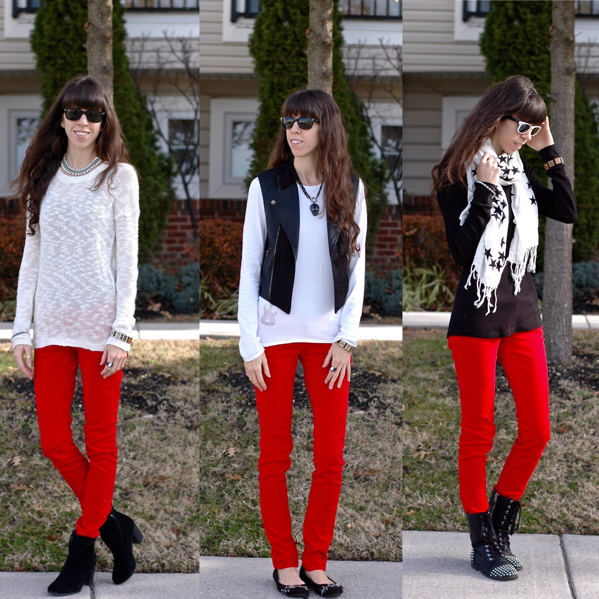 3 Ways To Wear Red Jeans