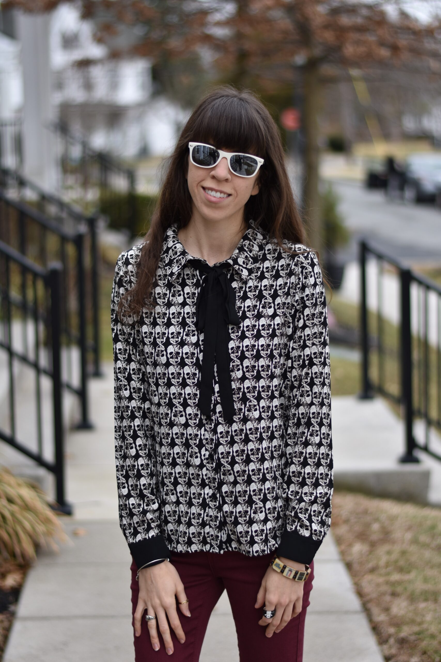 Skull Blouse: In and Out of the Office