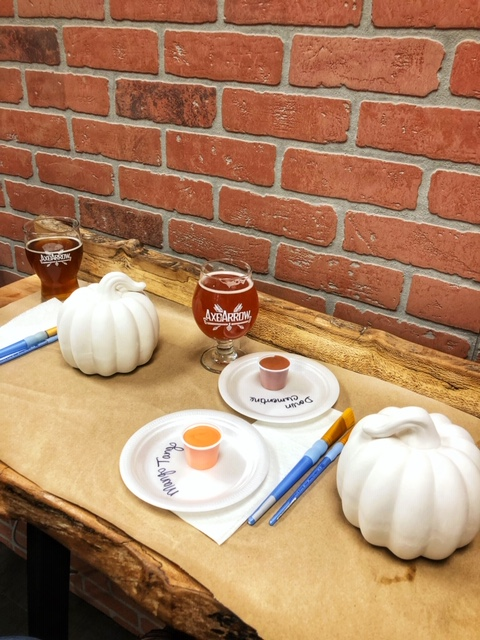 Axe and Arrow Brewery Ceramic Pumpkin Paint Night