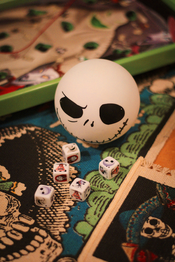 Nightmare Before Christmas Game Yahtzee