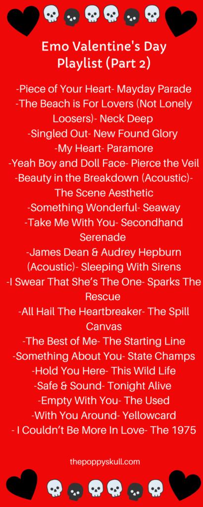 Emo Valentine's Day Playlist- The Poppy Skull