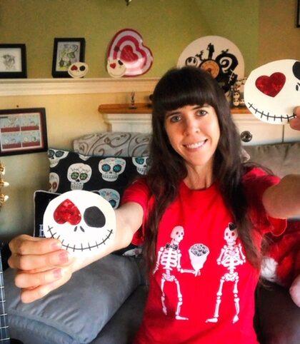Emo Valentine-The Poppy Skull