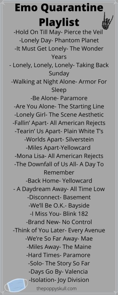 Emo Quarantine Playlist