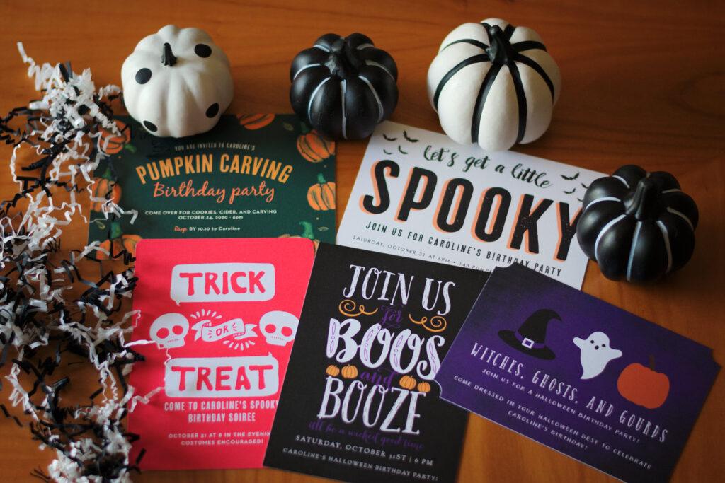 Basic Invite Halloween birthday invitations