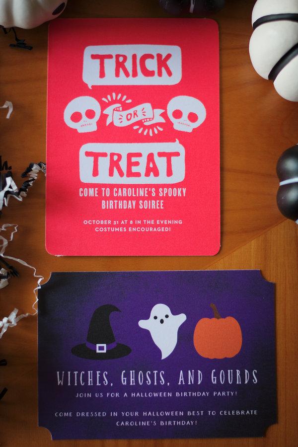 halloween birthday basic invite