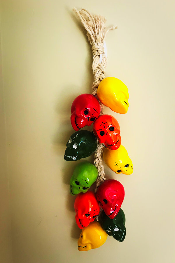 Hanging Pepper Skulls San Antonio
