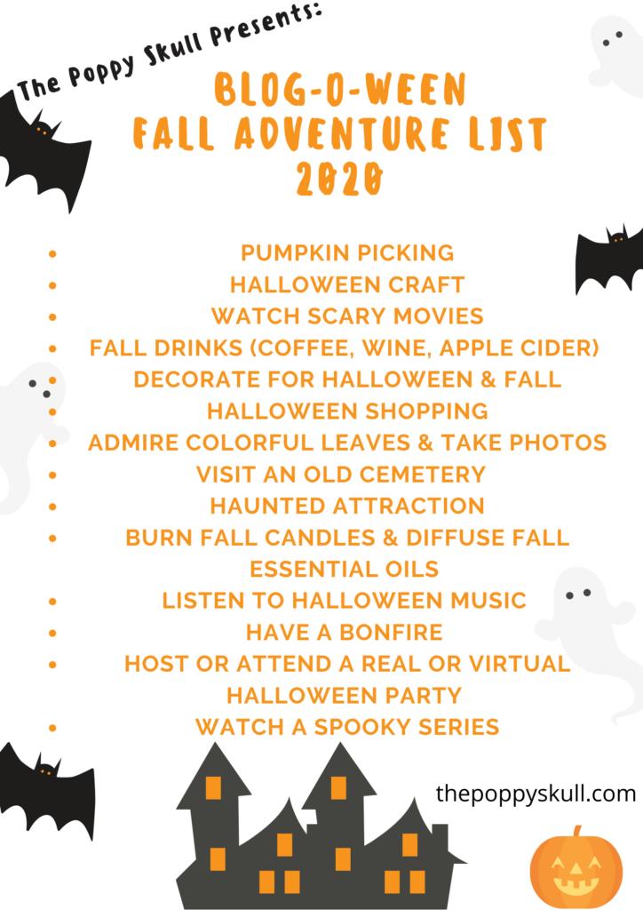 Fall Adventure List 2020