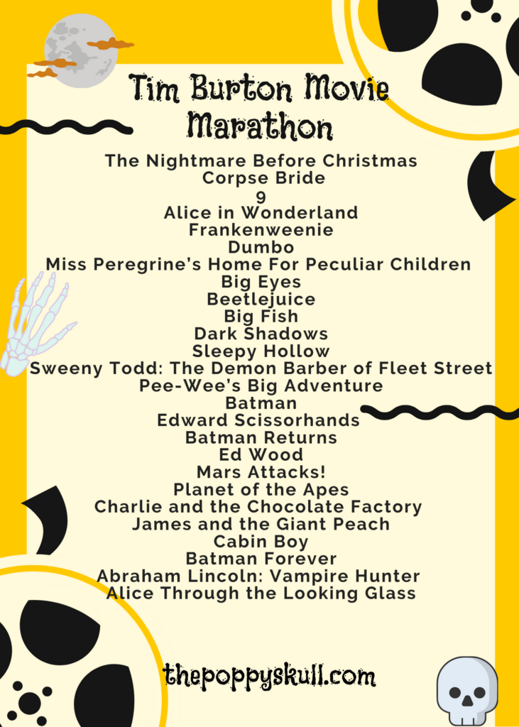 Tim Burton Movie Marathon