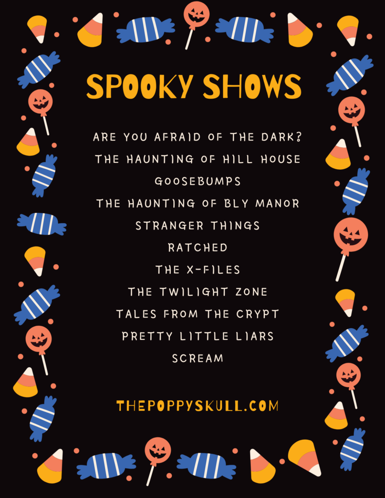 Spooky Shows List