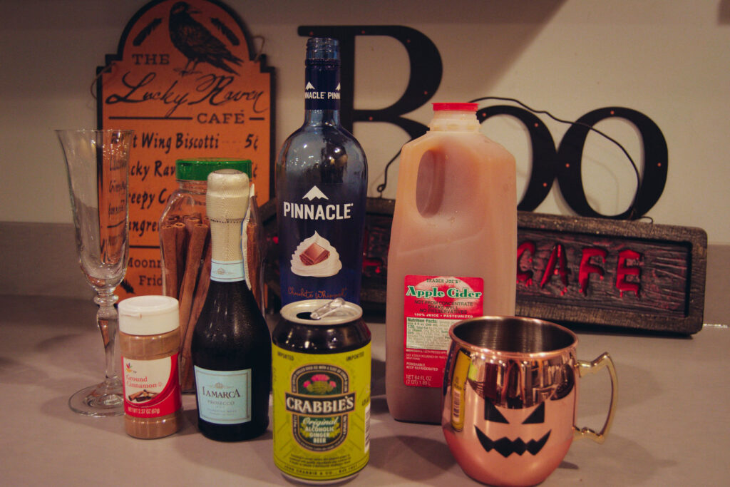 apple cider mixed drinks