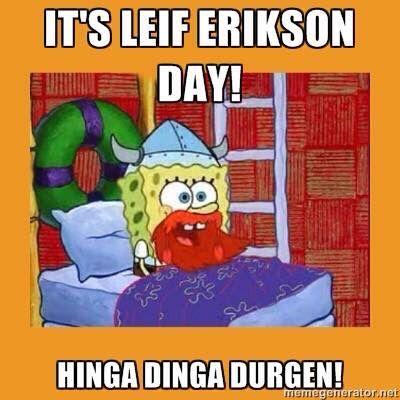 Spongebob Leif Erickson Day