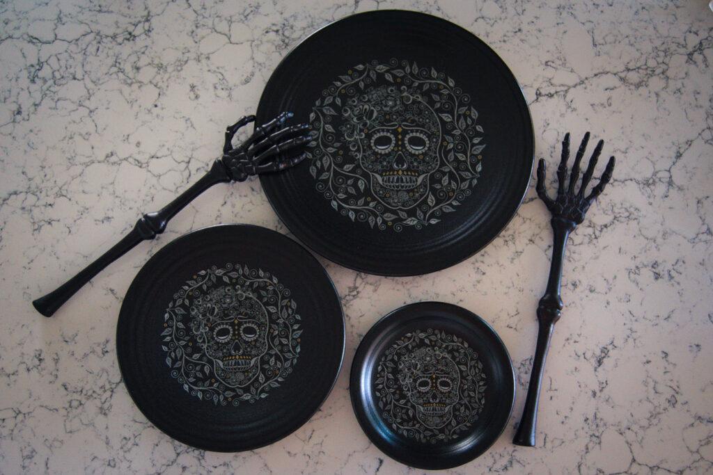 Fiestaware Sugar Skull Plates