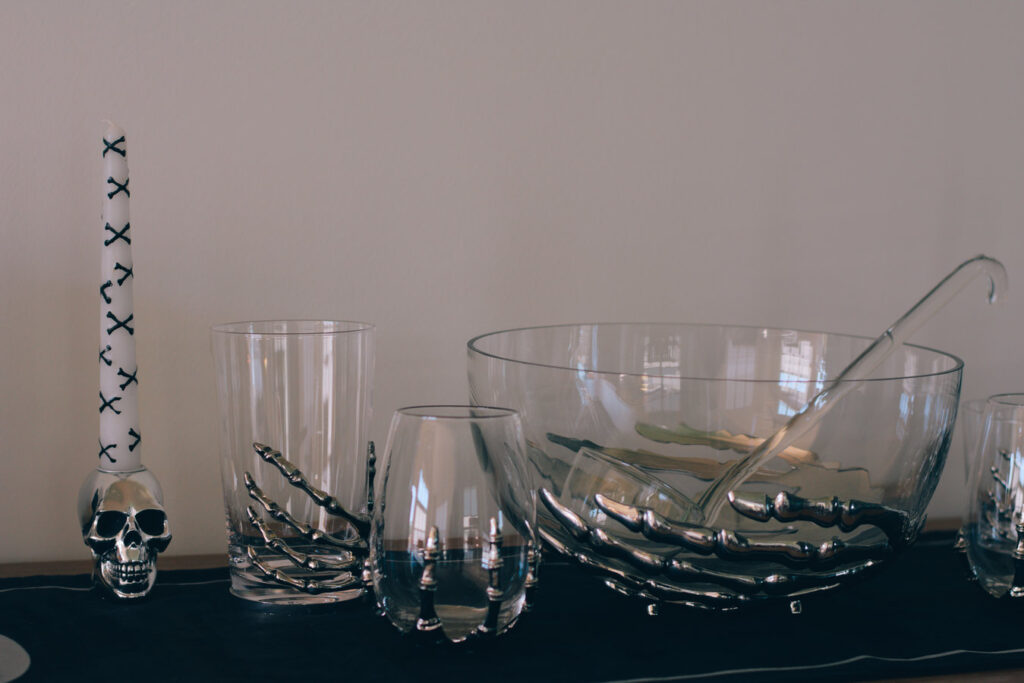 Pottery Barn Skeleton Drinkware Collection