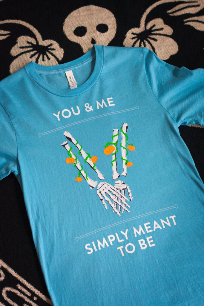 You & Me Simply Meant To Be- The Poppy Skull